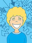 External factors influencing a happy kid — Stock Vector