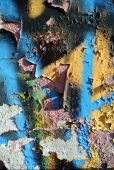 Random collage texture paint eroded wall — Stock Photo