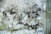 Random background collage texture paper on eroded wall — Stock Photo