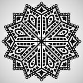 Ethnic ornament on white background — Stockvektor