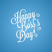 Boss day vintage lettering background — Vector de stock