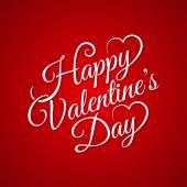 Valentine day vintage lettering background — Stock Vector