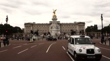 Buckingham palace and Victoria Memorial — Stock Video