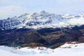 Mountains lake in Pyrenees, winter, spring — Stock Photo