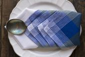 Rustic place setting — Stock Photo