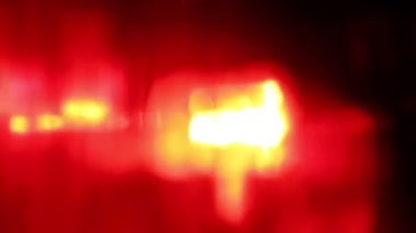 Flashing red LED light at night — Stock Video