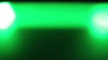 Horizontally moving green LED light at night — Stock Video