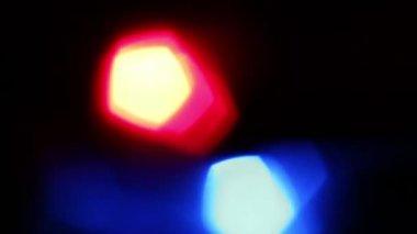 Flickering LED light at night — Stock Video