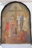 在基辅佩乔尔斯克修道院的外墙上画 — 图库照片