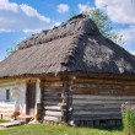 Traditional Ukrainian hut — Foto Stock #52997517