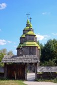 Zarubincy wooden village church — Stock Photo
