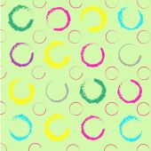 Seamless salad background with colorful circles — Cтоковый вектор
