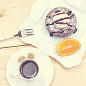 Chocolate cake Fondant — Stockfoto