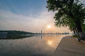 Sunset at Xuanwu Lake — Stock Photo