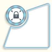 Abstract frame for any text with padlock — Stock Vector
