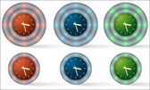 Set of six icons with watches — Stock Vector