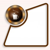 Abstract frame for any text with cup of coffee — Stok Vektör