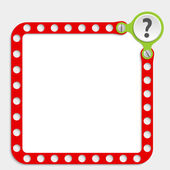 Red frame for any text with screws and question mark — Vetorial Stock