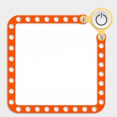 Red frame for any text with screws and power button — Wektor stockowy