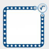 Blue frame for any text with screws and radix — Stockvektor