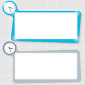 Set of two text boxes for text and watches — Stock Vector