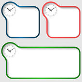 Three vector text frame and watches — 图库矢量图片