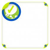 Color box for entering text and speech bubble and check box — Vector de stock