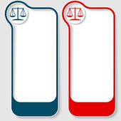 Colored abstract frames for your text and law symbol — Vecteur