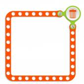 Perforated frame for your text and trashcan — Stock Vector