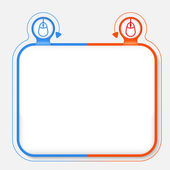 Abstract frame for your text and mouse icon — Stockvector