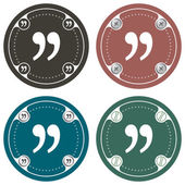 Set of four colored flat simple frames and quotation mark — Stock Vector