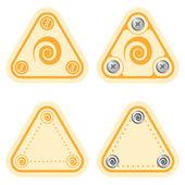 Ensemble de quatre cadres de plat simples et spirale — Vecteur