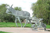 Donkey monument — Stock Photo