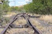 Unused railroad switch — Stockfoto