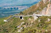 View of Sir Lowreys Pass near Somerset West, South Africa — Stock Photo