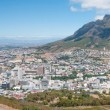 Panorama of Table Mountain and the city centre in Cape Town, Sou — Stock Photo #64991589