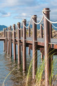 Dam with jetty near Somerset West — Stock Photo