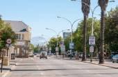 Early morning street scene in Oudtshoorn — Zdjęcie stockowe