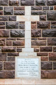 Cross and plaque, new St. Georges Anglican Church, Knysna — Stock Photo