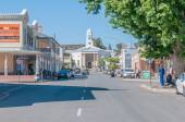 Early morning street scene in Colesberg, South Africa — Stock Photo