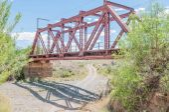 Railway bridge next to the Kromrivier Blockhouse — Stock Photo