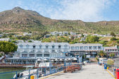 Waterfront at Simons Town harbor — Stock Photo