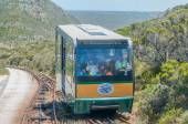 Funiculars at Cape Point about to pass each other — Stock Photo
