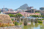 Moat,  Cape Town central business district and Lions Head — Stock Photo