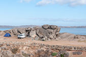 Camping on Shark Island in Luderitz — Stock Photo
