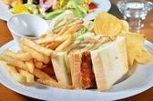 Chicken sandwich combo — Stock Photo