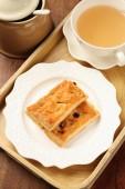 Maple sugar raisins multi-layer  biscuits — Stock Photo