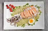 Bigfin reef squid salad — Stock Photo