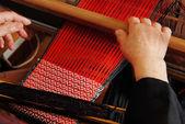 Traditionelle Weberei Webstuhl von hand — Stockfoto