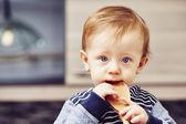 Mały kucharz — Zdjęcie stockowe